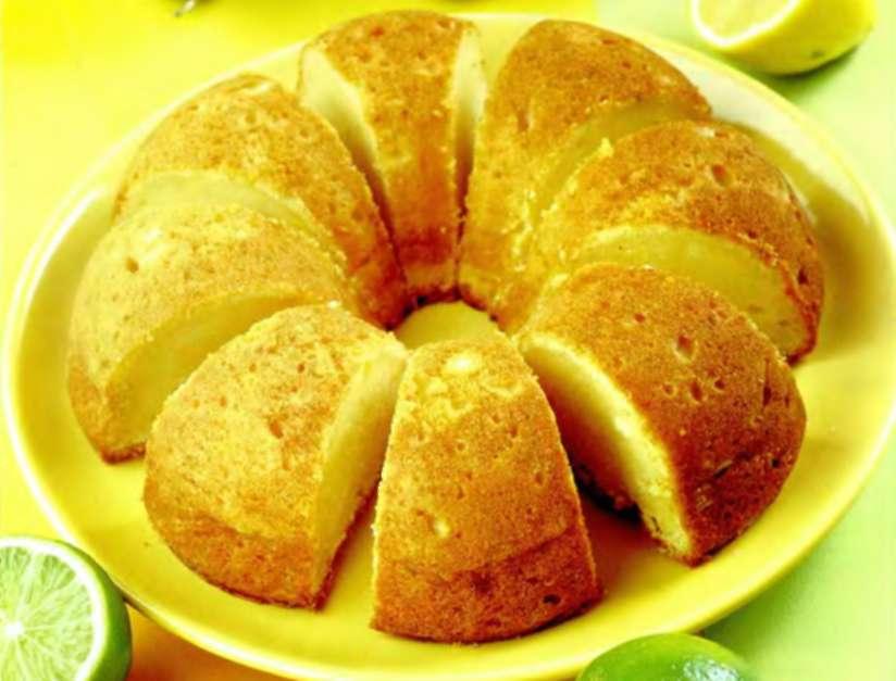 Кекс с творогом и лимоном